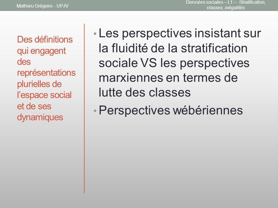 Données sociales – L1 – Stratification, classes, inégalités