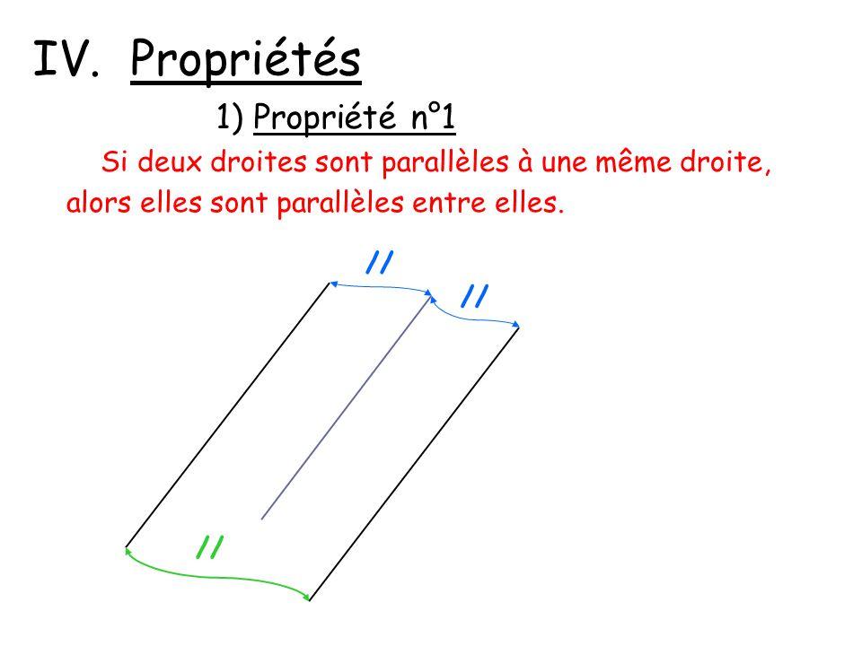 IV. Propriétés 1) Propriété n°1