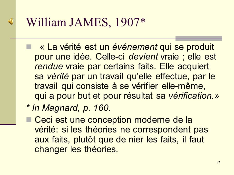 William JAMES, 1907*