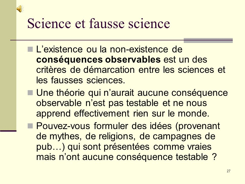 Science et fausse science