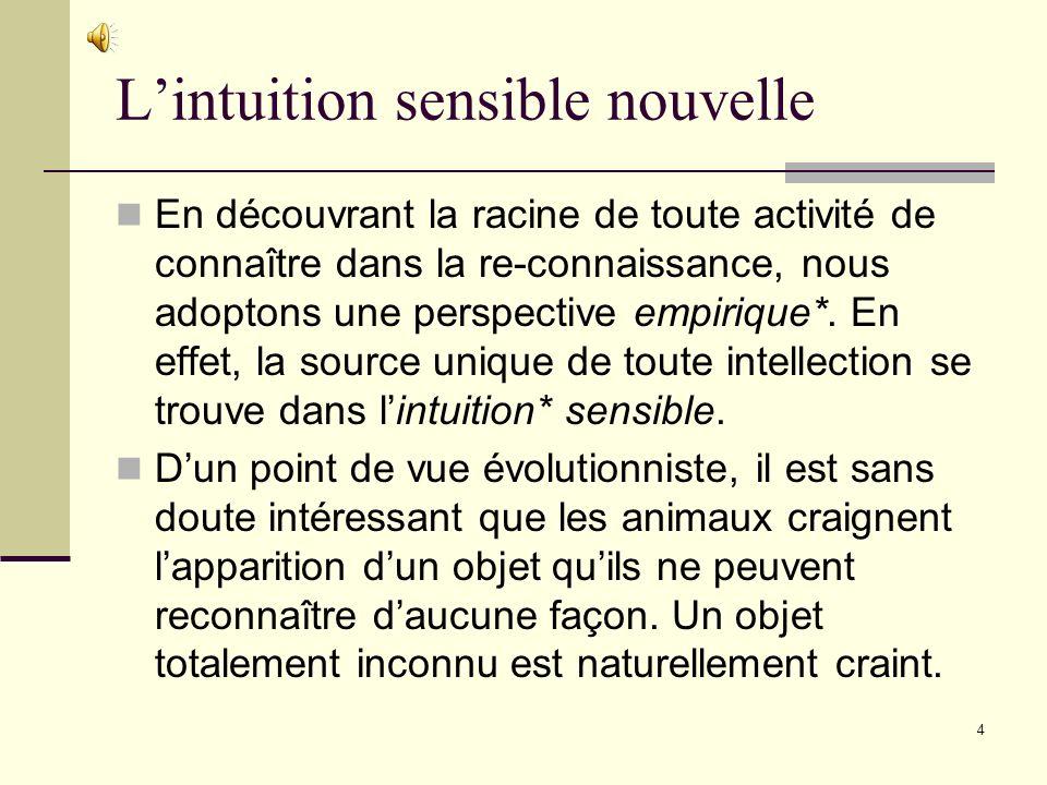 L'intuition sensible nouvelle