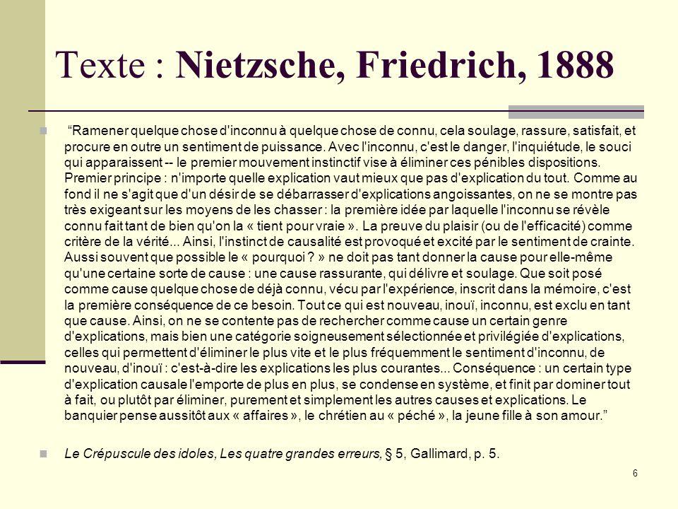 Texte : Nietzsche, Friedrich, 1888