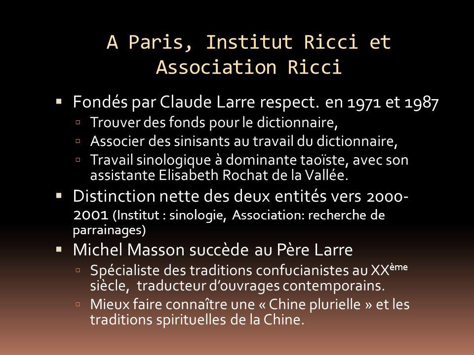 A Paris, Institut Ricci et Association Ricci