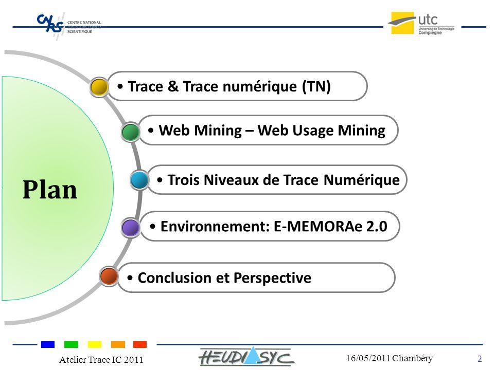 Plan Trace & Trace numérique (TN) Web Mining – Web Usage Mining