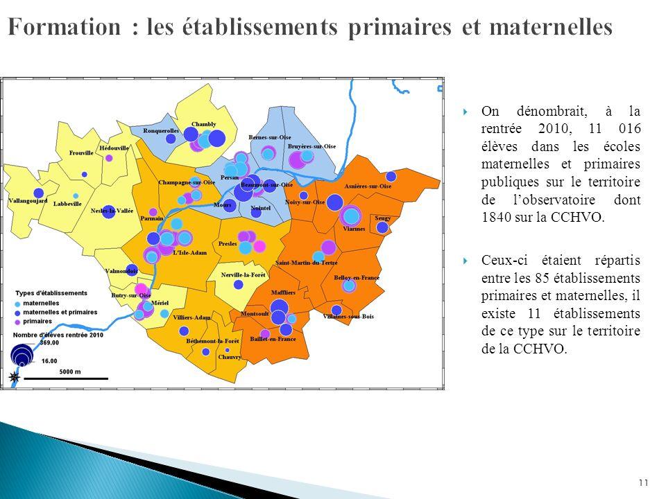 Formation : les établissements primaires et maternelles
