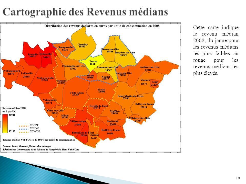 Cartographie des Revenus médians