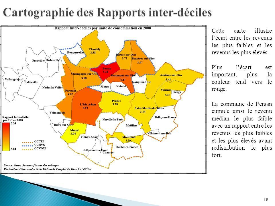 Cartographie des Rapports inter-déciles