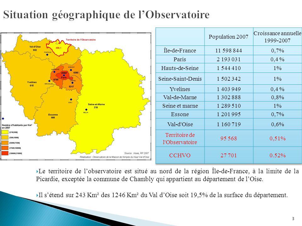 Situation géographique de l'Observatoire