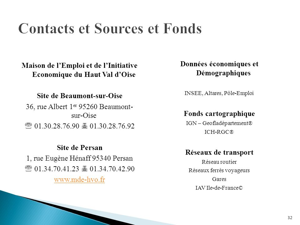 Contacts et Sources et Fonds