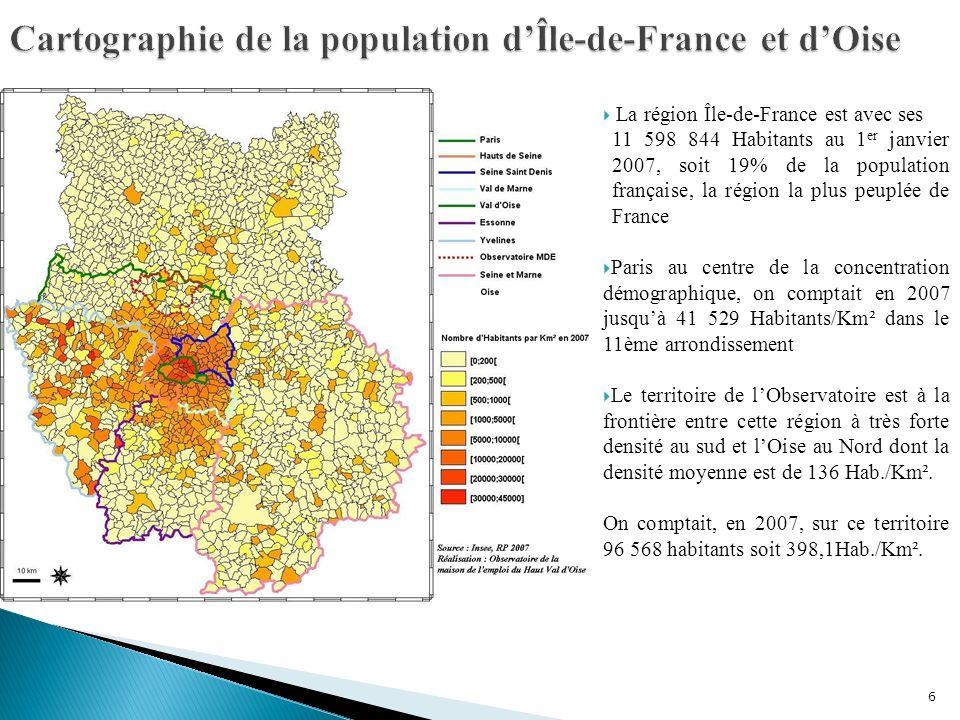 Cartographie de la population d'Île-de-France et d'Oise