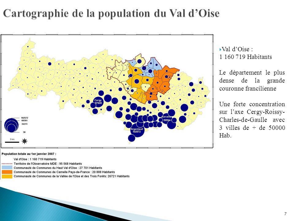 Cartographie de la population du Val d'Oise