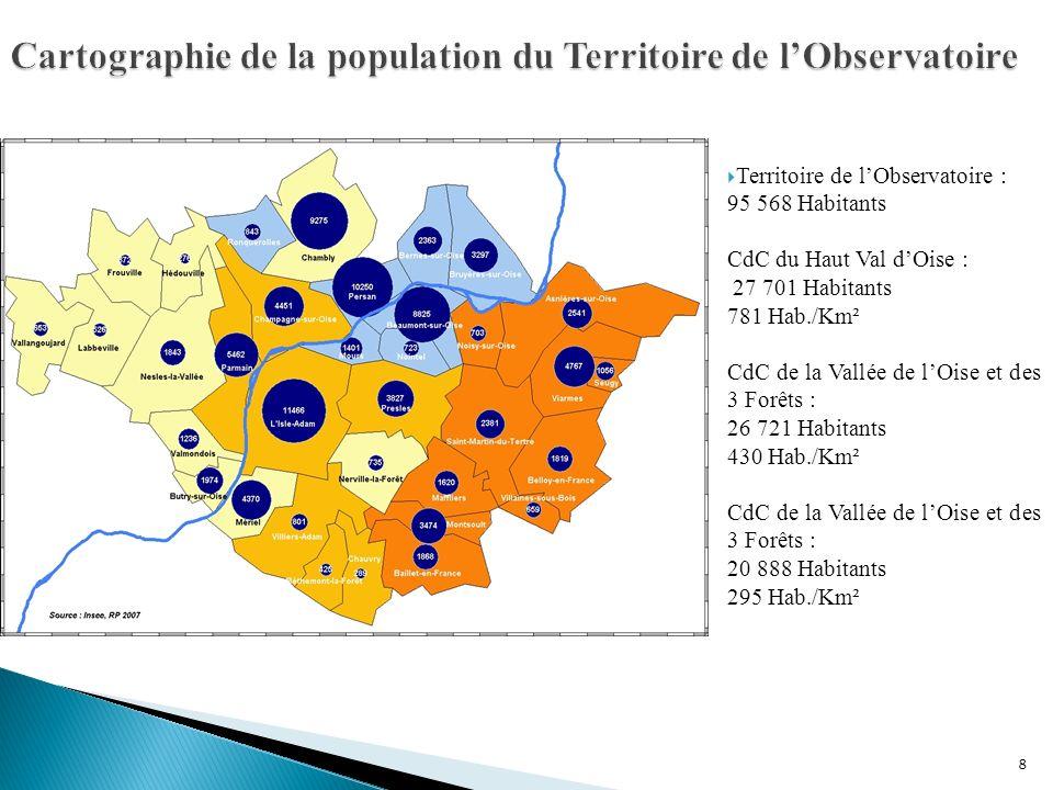 Cartographie de la population du Territoire de l'Observatoire