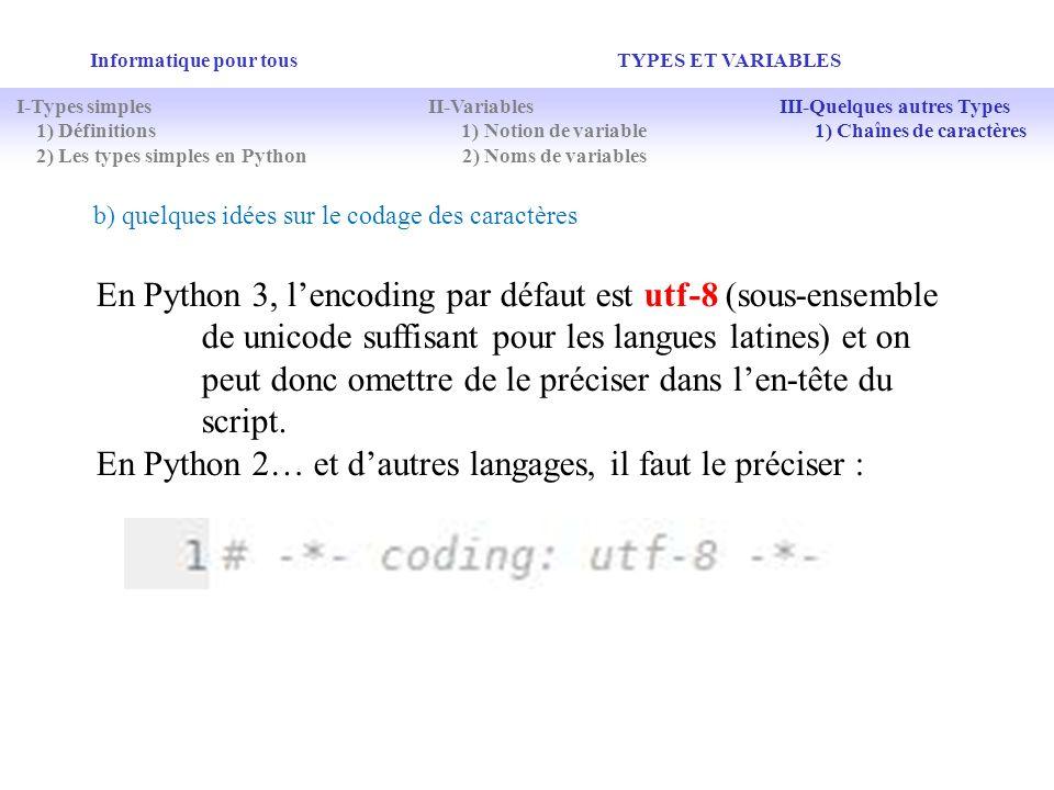 En Python 2… et d'autres langages, il faut le préciser :
