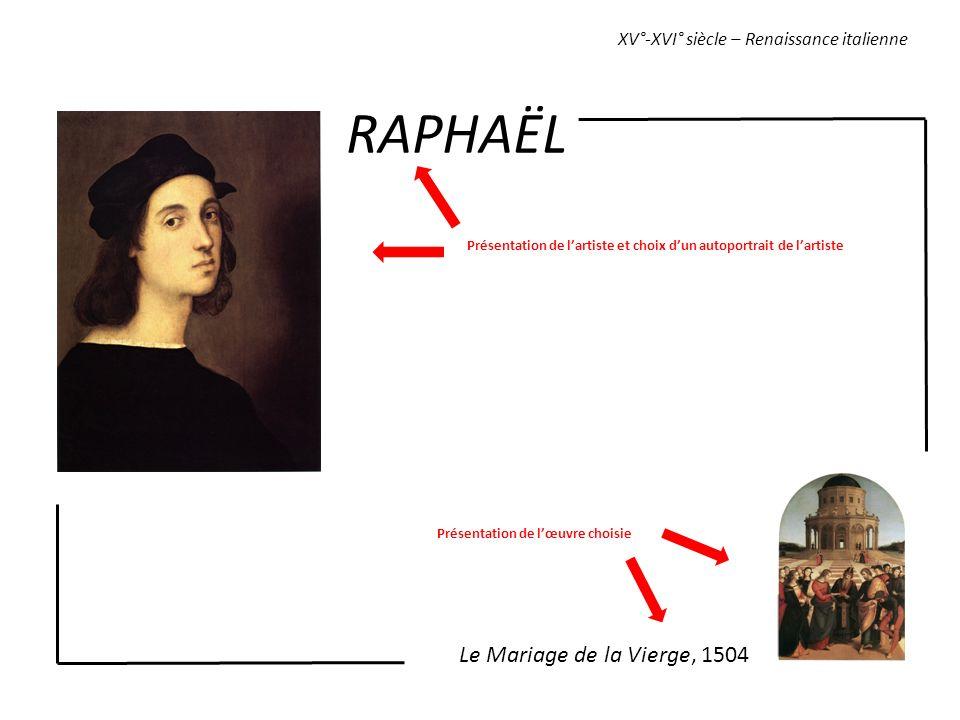RAPHAËL Le Mariage de la Vierge, 1504