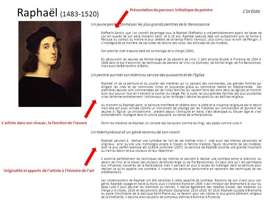 Raphaël (1483-1520) Présentation du parcours initiatique du peintre. L'artiste.