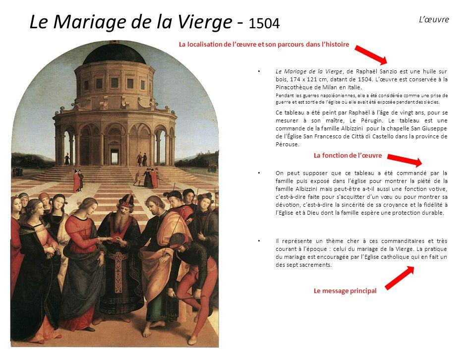 Le Mariage de la Vierge - 1504