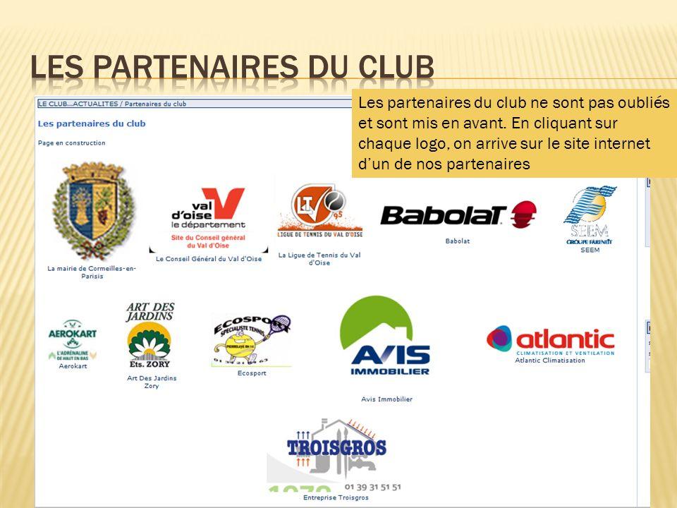 Les partenaires du club