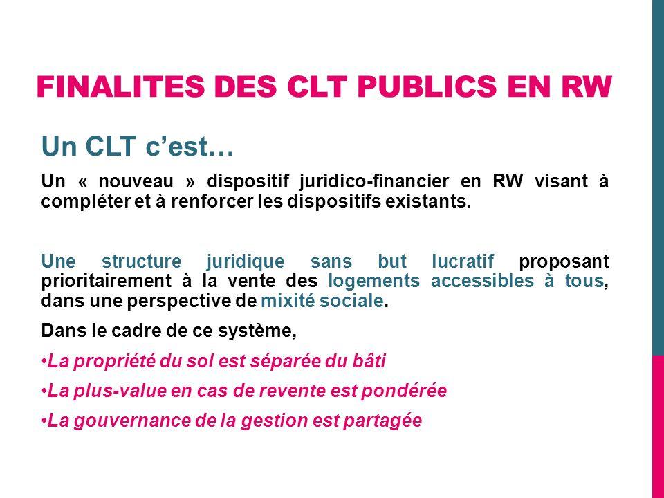FINALITES DES CLT PUBLICS EN RW