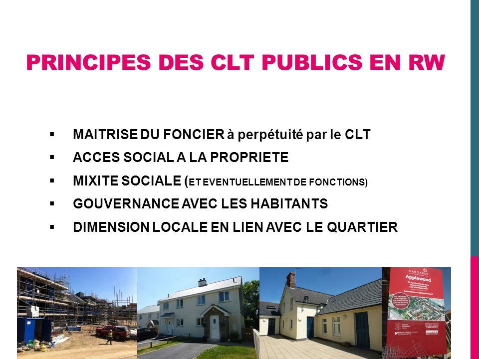 PRINCIPES DES CLT PUBLICS EN RW