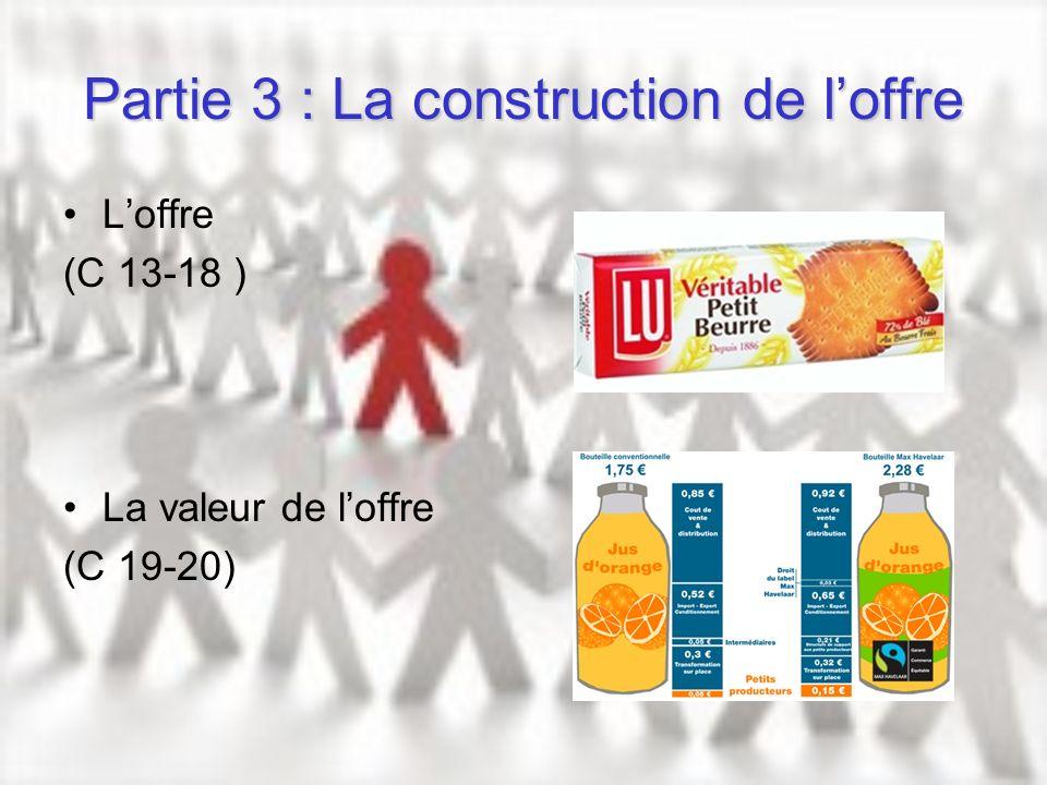 Partie 3 : La construction de l'offre