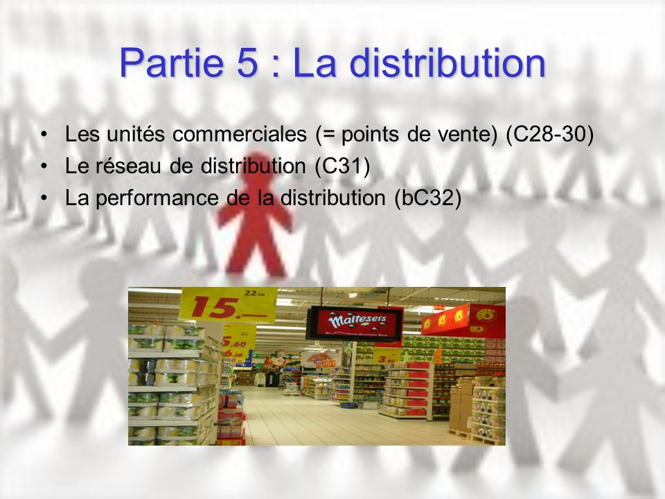 Partie 5 : La distribution
