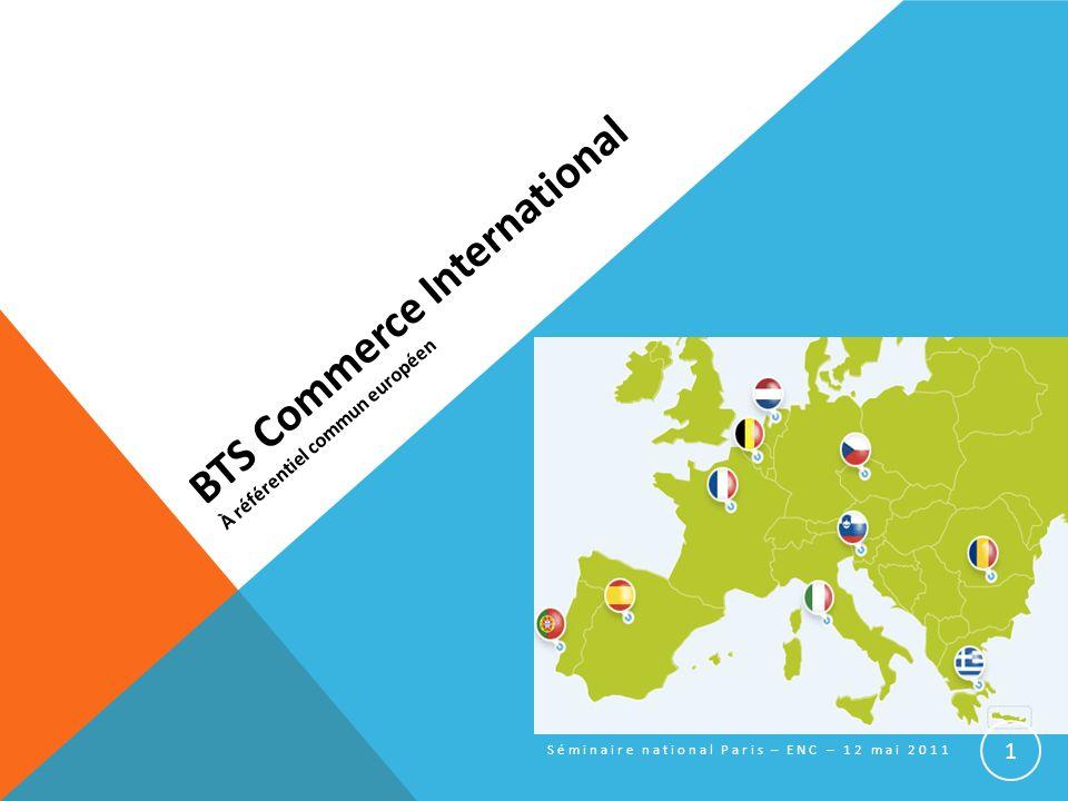 BTS Commerce International À référentiel commun européen