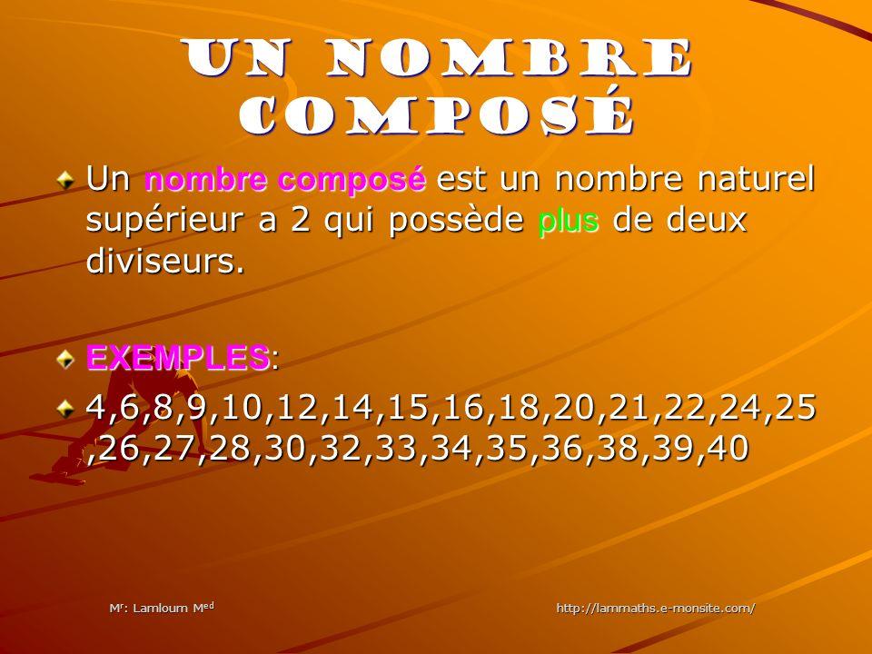 Mr: Lamloum Med http://lammaths.e-monsite.com/