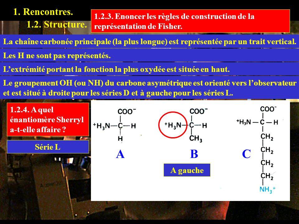 1. Rencontres. 1.2.3. Enoncer les règles de construction de la représentation de Fisher. 1.2. Structure.