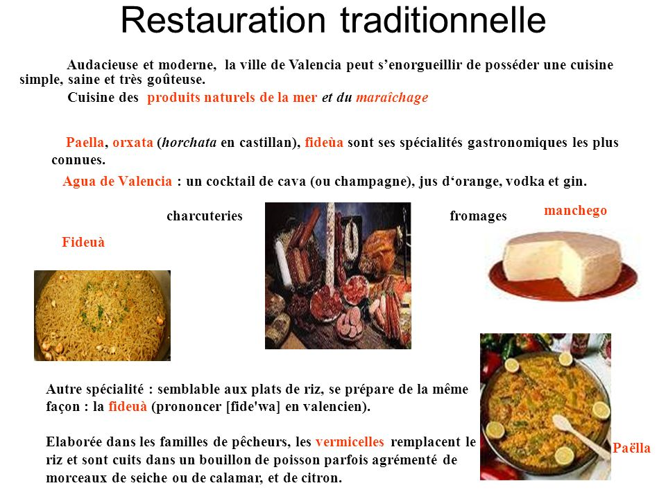 Restauration traditionnelle