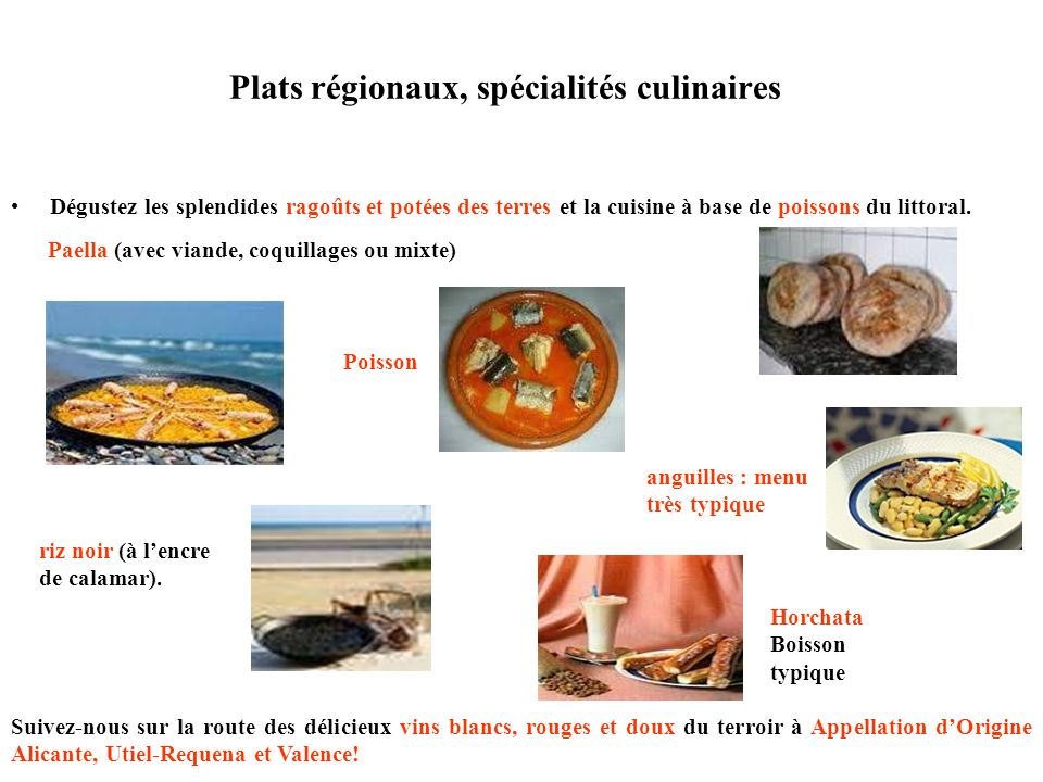 Plats régionaux, spécialités culinaires