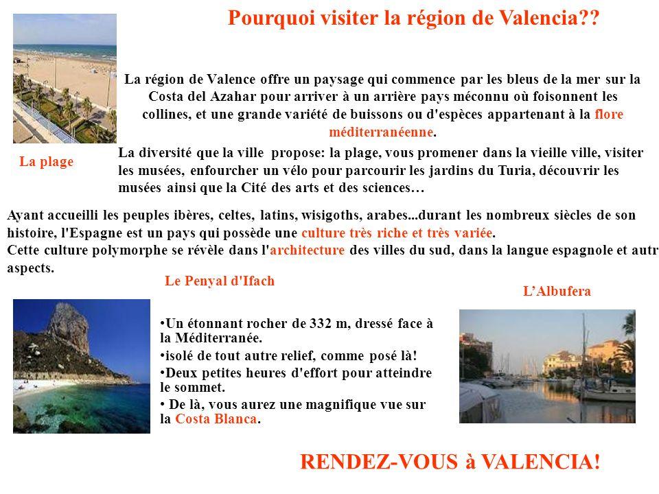 Pourquoi visiter la région de Valencia
