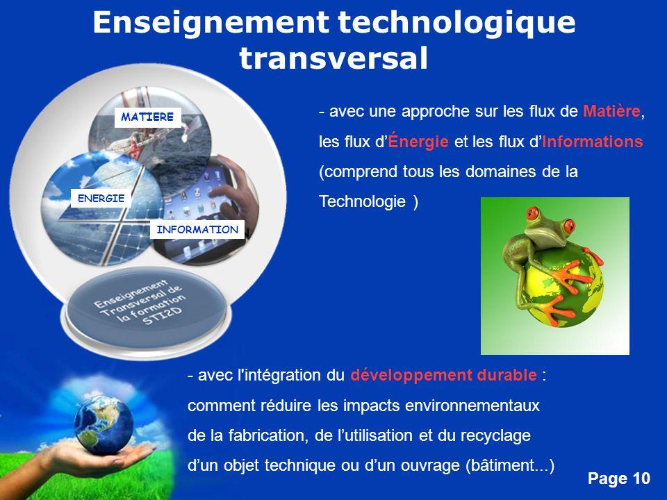 Enseignement technologique transversal