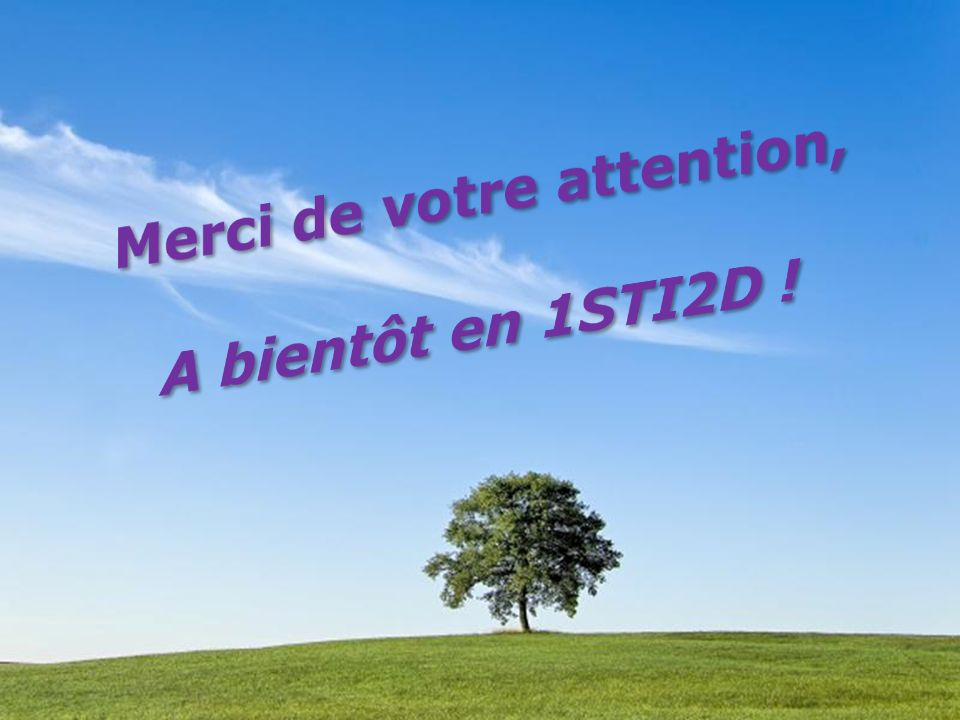 Merci de votre attention,