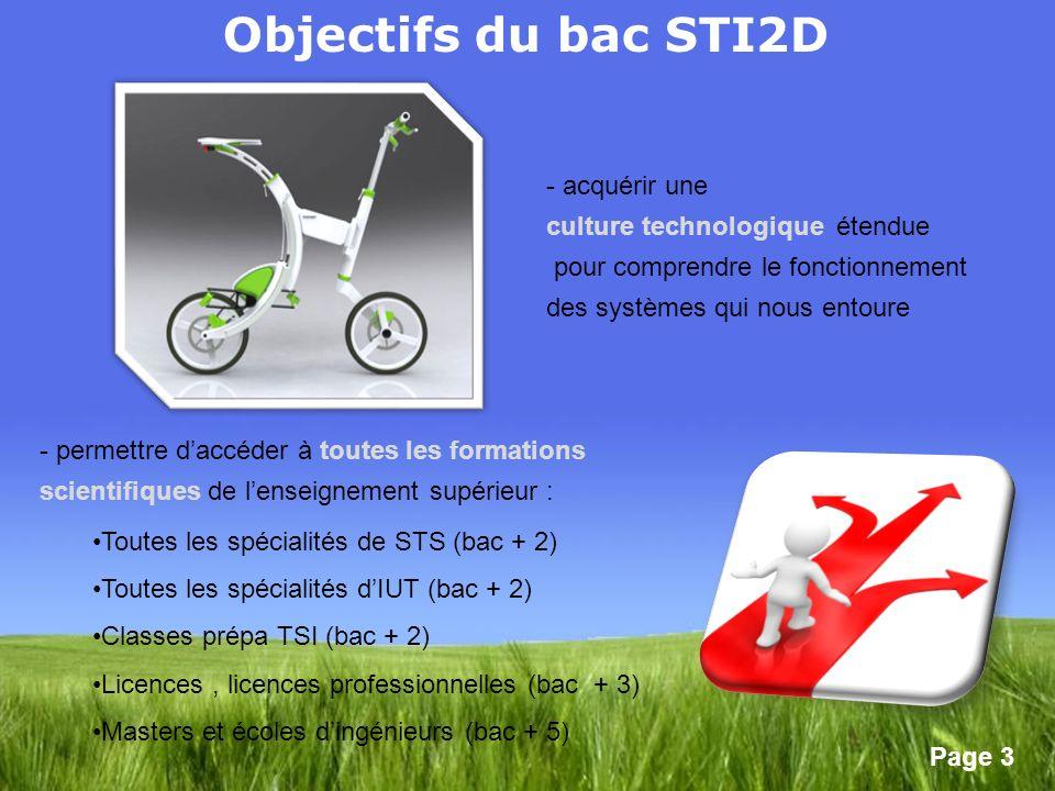 Objectifs du bac STI2D acquérir une culture technologique étendue