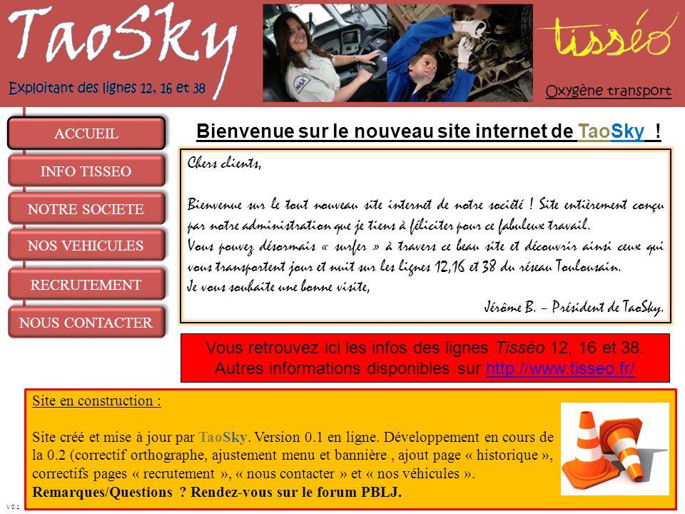 Bienvenue sur le nouveau site internet de TaoSky !