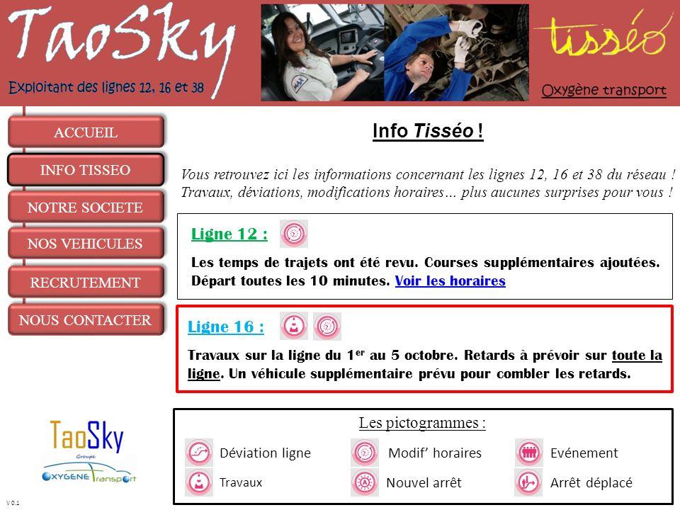 Info Tisséo ! Ligne 12 : Ligne 16 : Les pictogrammes : ACCUEIL