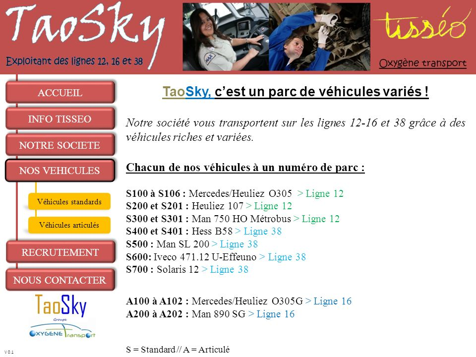 TaoSky, c'est un parc de véhicules variés !