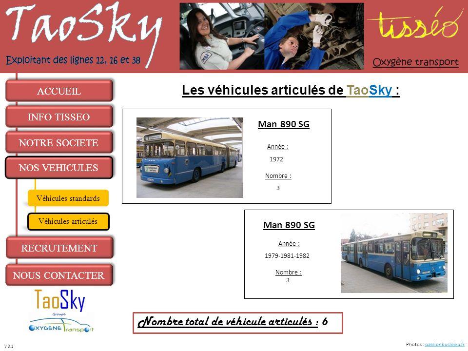 Les véhicules articulés de TaoSky :