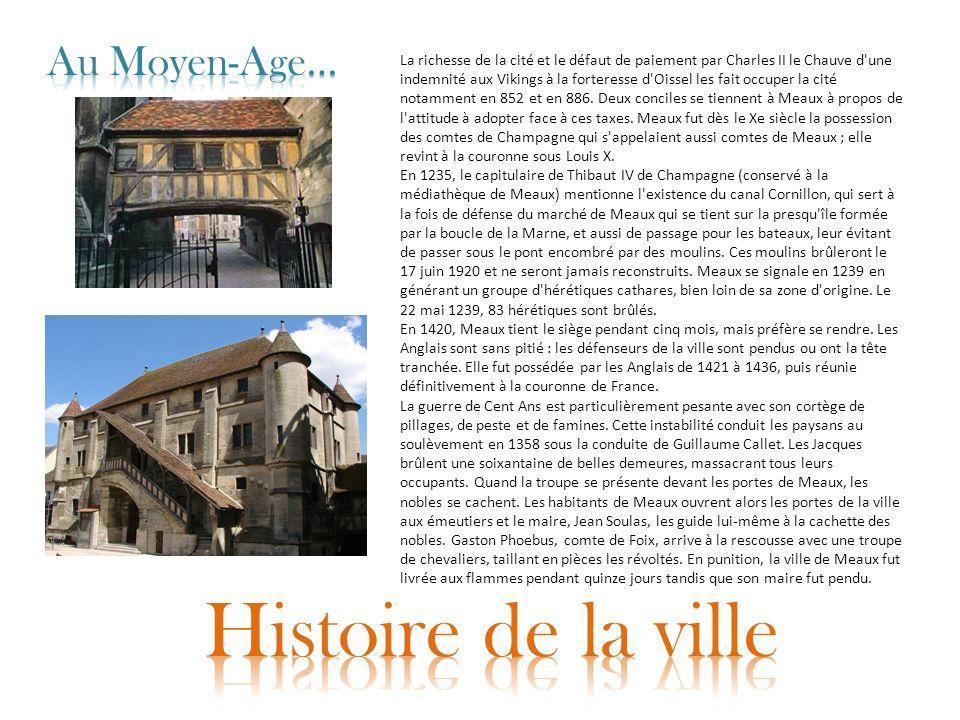 Histoire de la ville Au Moyen-Age…