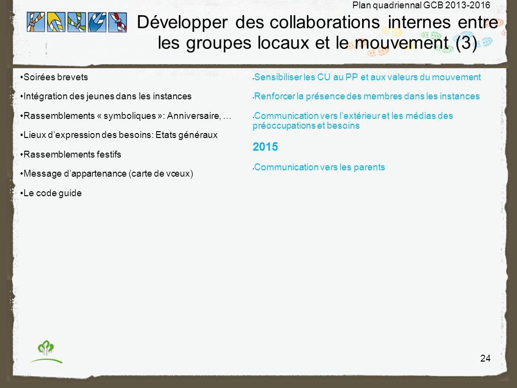 Développer des collaborations internes entre les groupes locaux et le mouvement (3)