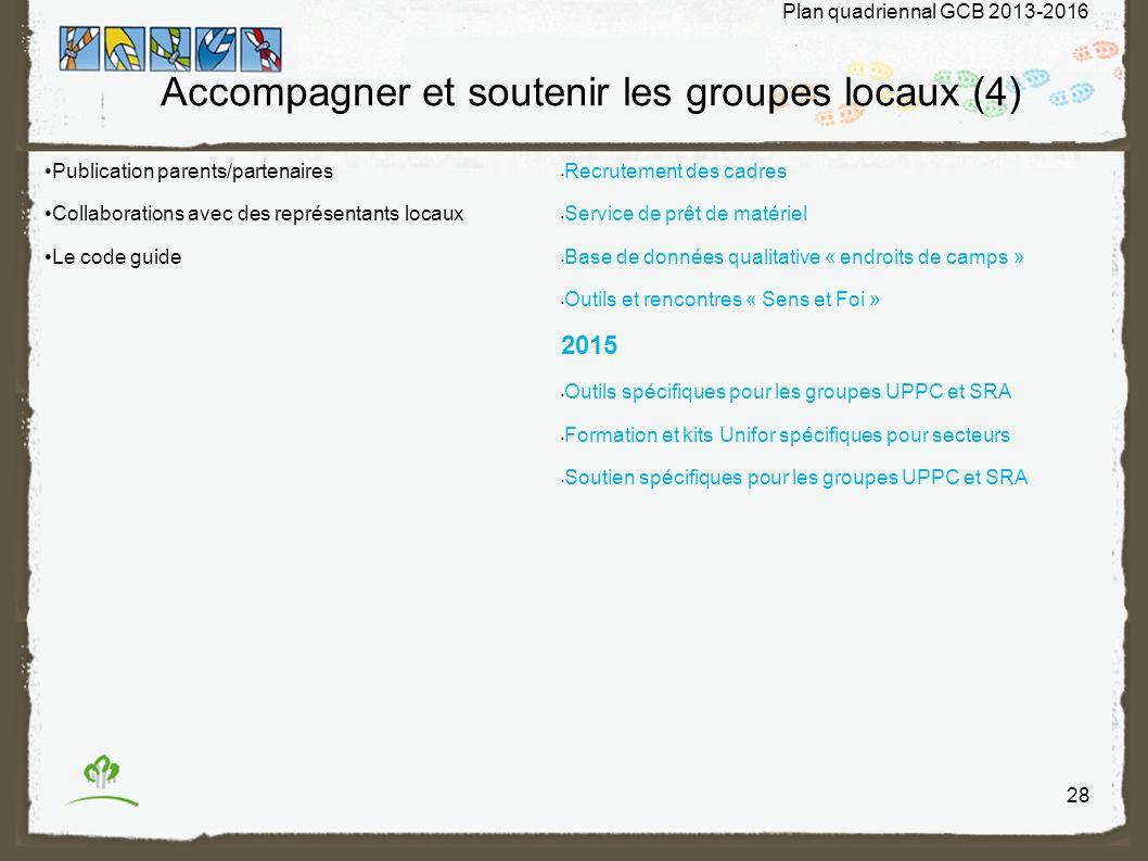 Accompagner et soutenir les groupes locaux (4)
