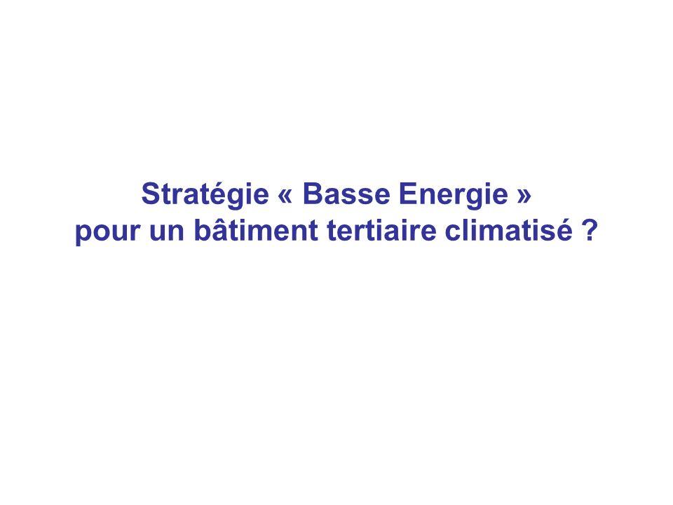 Stratégie « Basse Energie » pour un bâtiment tertiaire climatisé