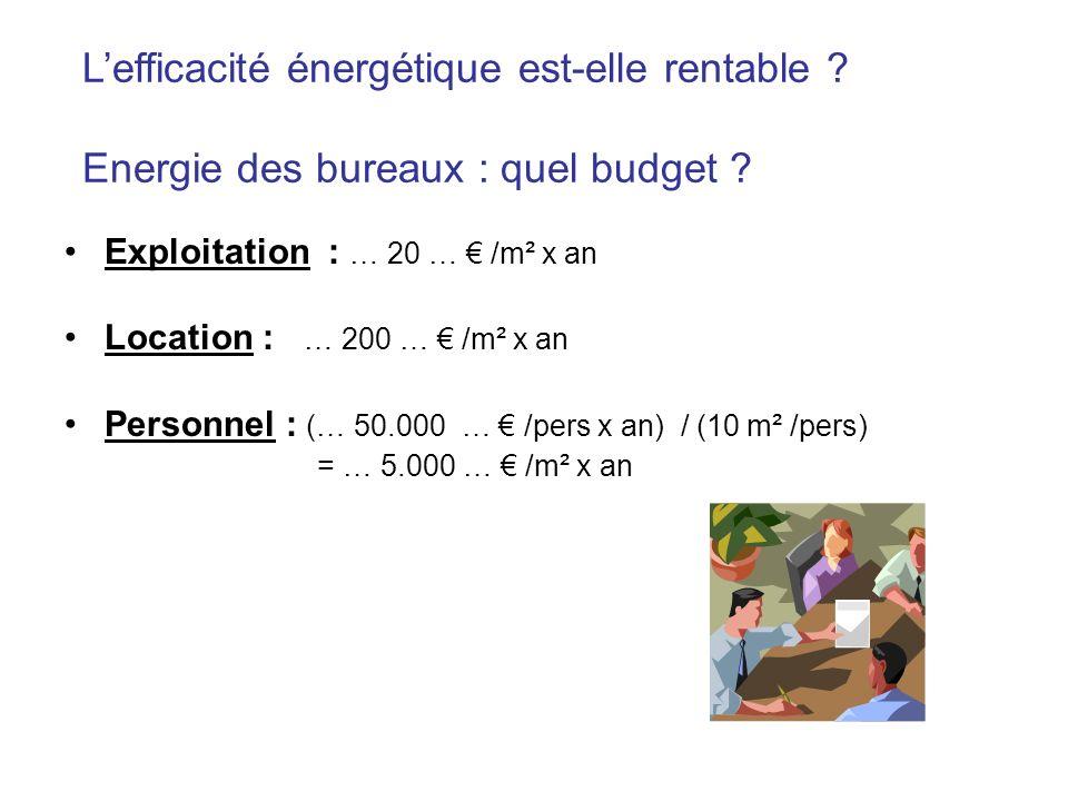 L'efficacité énergétique est-elle rentable