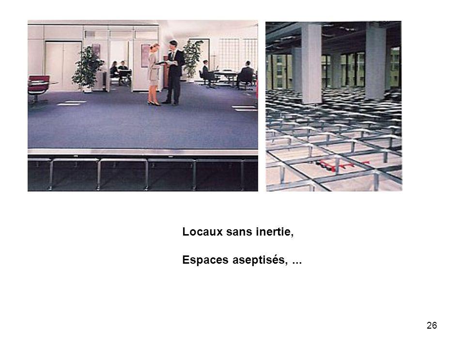 Locaux sans inertie, Espaces aseptisés, ...