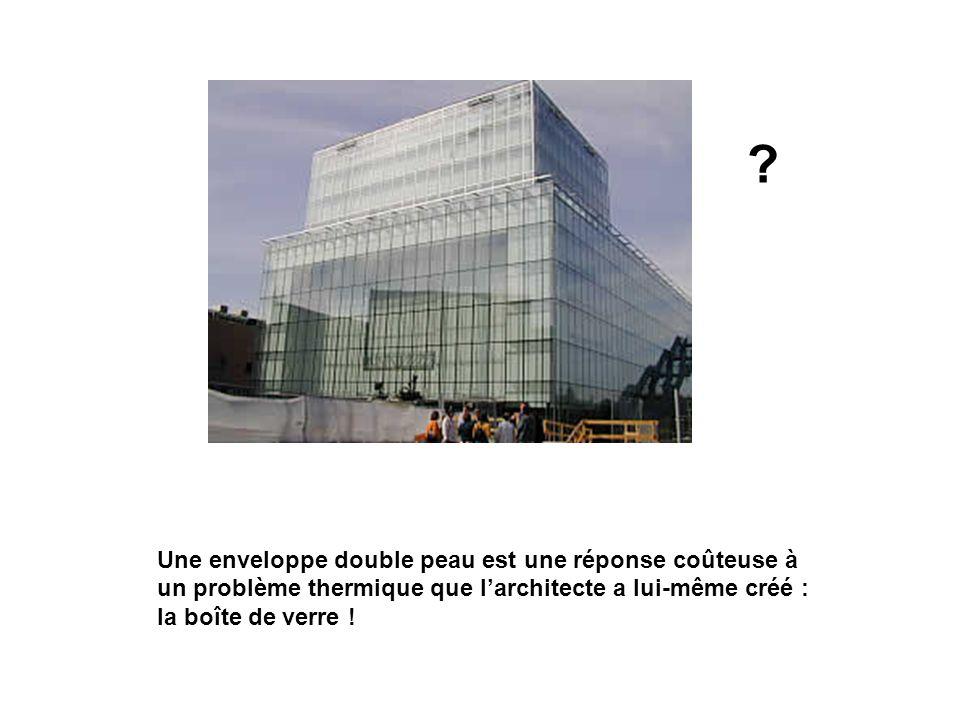Une enveloppe double peau est une réponse coûteuse à un problème thermique que l'architecte a lui-même créé : la boîte de verre !
