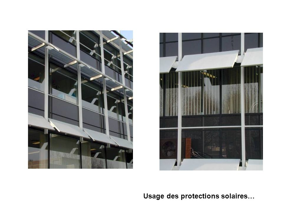 Usage des protections solaires…