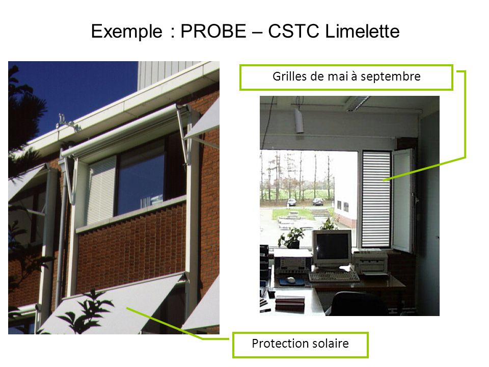Exemple : PROBE – CSTC Limelette