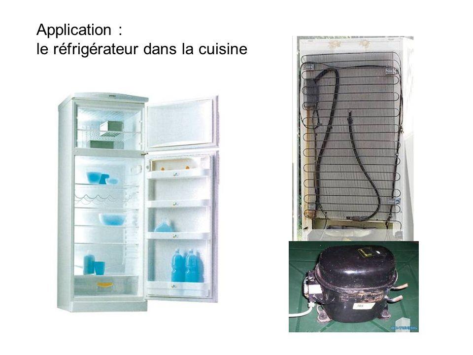 Application : le réfrigérateur dans la cuisine