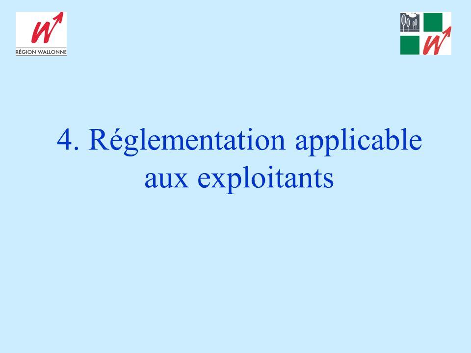 4. Réglementation applicable aux exploitants