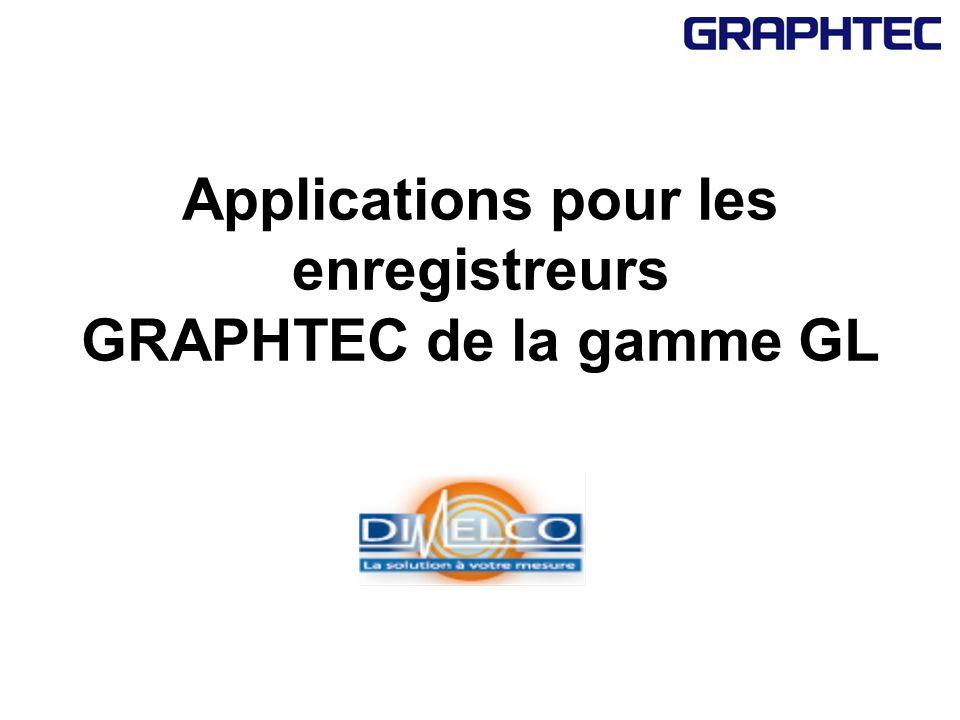 Applications pour les enregistreurs GRAPHTEC de la gamme GL